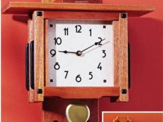 Настенные часы из дерева стиле greene & greene своими руками