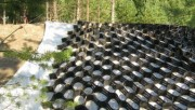 Ландшафтный дизайн: использование геотекстиля и георешетки