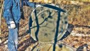 Колодец из колец, состоящих из бетонных звеньев