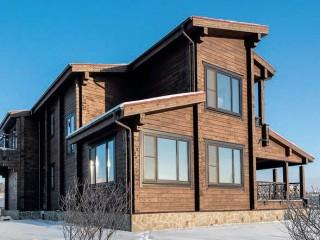 Проект двухэтажного деревянного дома для дачи